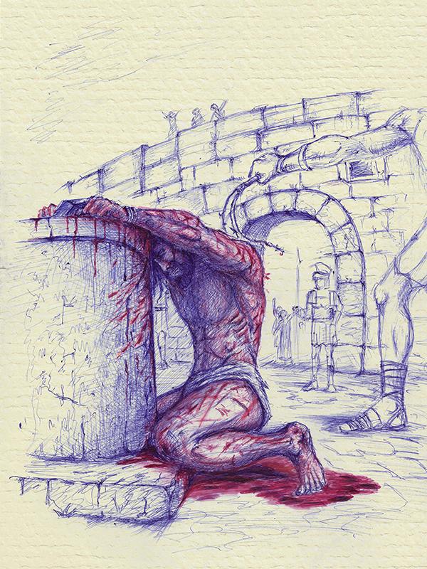 ảnh minh họa Chúa Jesus bị người La-mã đánh đòn