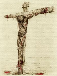 Chúa Jesus bị treo trên thập tự
