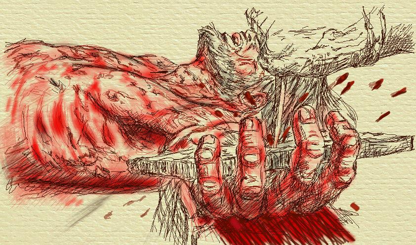 Chúa Jesus bị đóng đinh vào tay